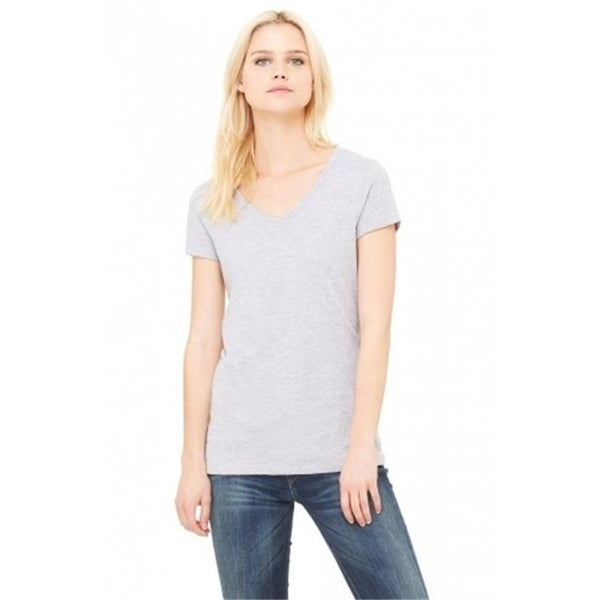 07b70f66e9cc Shop Bella-Canvas B6005 Womens Jersey Short Sleeve V-Neck Tee Athletic  Heather - Medium - Free Shipping On Orders Over $45 - Overstock - 27822034