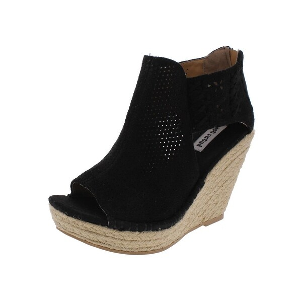 Not Rated Womens Maia Wedge Sandals Open Toe Straw