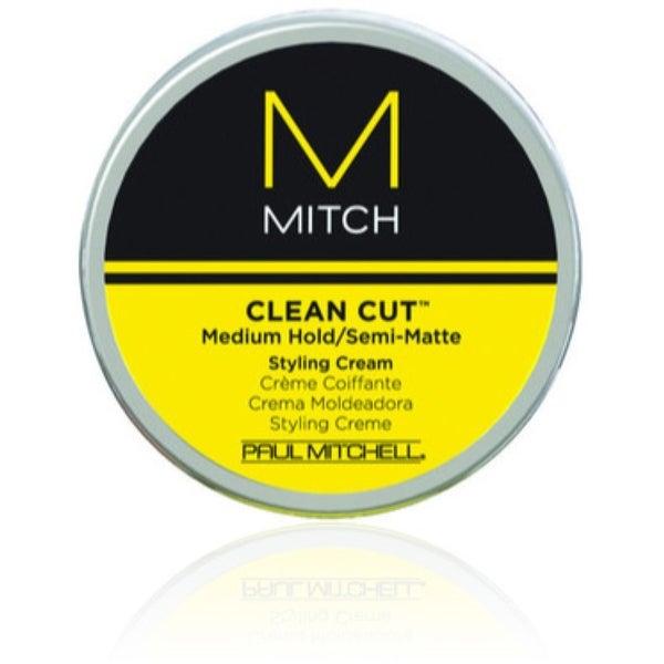 Paul Mitchell Clean Cut Medium Hold/Semi-Matte Styling Cream, 3 oz