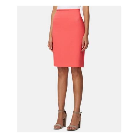 TAHARI Womens Pink Knee Length Pencil Wear To Work Skirt Size 10