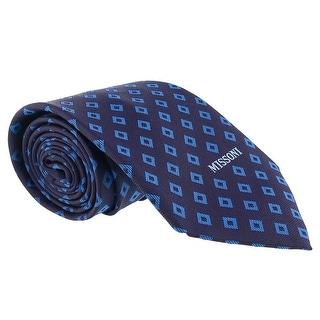 Missoni Diamond Blue Woven 100% Silk Tie
