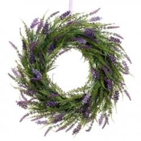 Allstate Floral FWL338-LV-TT 20 in. Lavender Twig Wreath Two Tone Lavender - Pack of 2