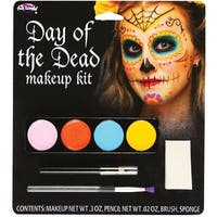 Day Of The Dead Adult Costume Makeup Kit Female - Multi-Colored