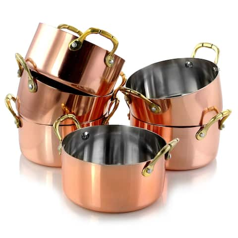 Gibson Home Rembrandt 6 Piece Stainless Steel 4.7 inch Mini Dutch Oven