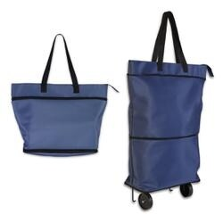 Blue - Knit Happy Convertible Trolley Bag