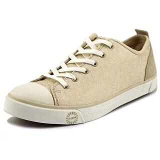Ugg Australia W Evera Metallic Round Toe Canvas Tennis Shoe