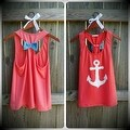 Anchor Print Womens Summer Casual Sleeveless Blouse Tank Tops T-Shirt Tee - Thumbnail 0