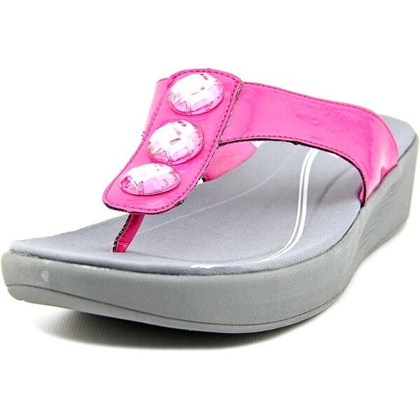 Easy Spirit e360 Bejewel Women W Open Toe Synthetic Pink Flip Flop Sandal