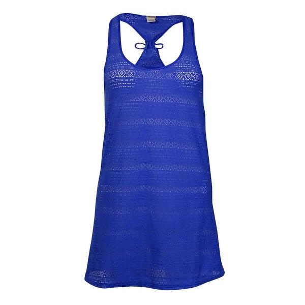 Roxy Women's Crochet Tank Coverup - majorelle blue