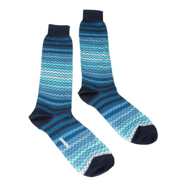 Missoni GM00COU3968 0003 Turquoise/Teal Knee Length Socks
