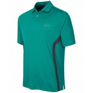 Greg Norman NEW Green Black Mens Size Small S Colorblocked Polo Shirt