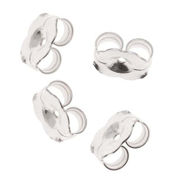 Sterling Silver Earring Backs (Earnuts) Extra Heavy 6mm (12)
