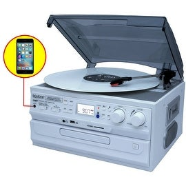 Boytone BT-21DJWT-C, Limited Edition 3 Speed Turntable Ability to convert vinyl record, CD, Cassette, AM/FM Radio into MP3 files