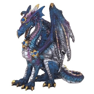 Shop For Q Max 4 H Three Headed Blue Dragon Statue Fantasy Decoration Figurine Get Free Delivery On Everything At Overstock Your Online Home Decor Outlet Store Get 5 In Rewards With Club O 32409396