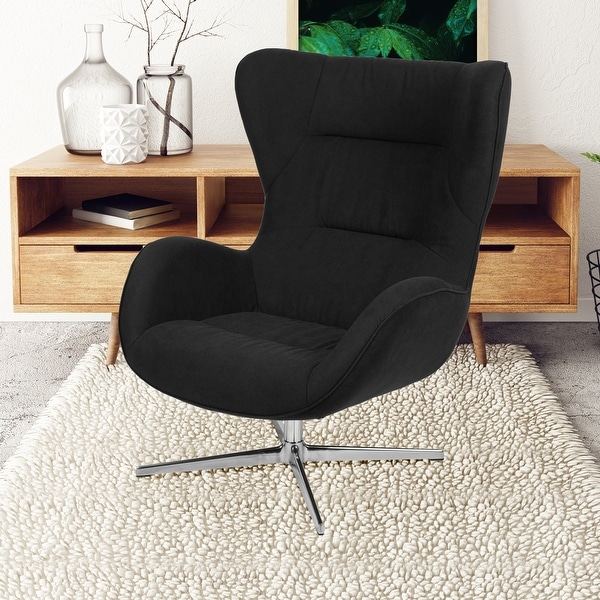 Home and Office Retro Swivel Wing Accent Chair. Opens flyout.