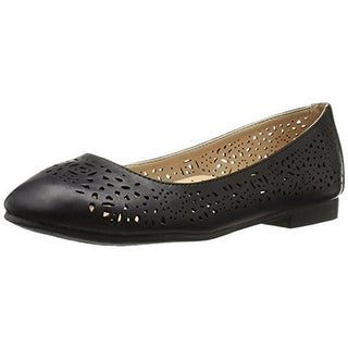 Annie Womens Esteppe Flats Faux Leather Laser Cut