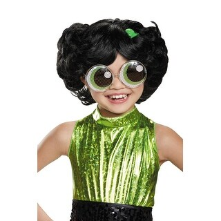 Disguise Buttercup Child Wig - Black/Green