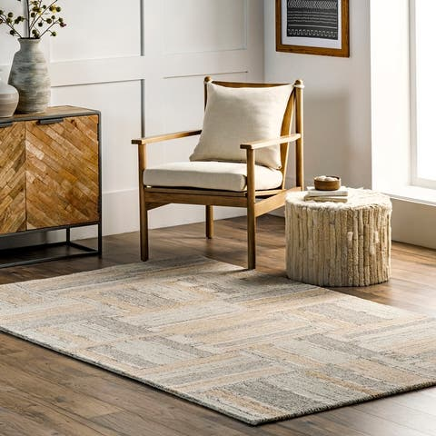 nuLOOM Palmer Hand Tufted Wool Striped Area Rug