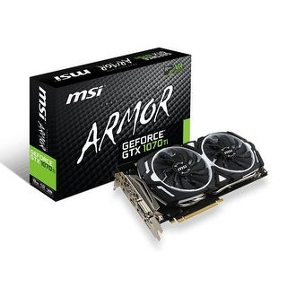 Msi Geforce Gtx 1070 Ti Armor 8G Graphic Cards 8Gb Gddr5 / 8008 Mhz Memory
