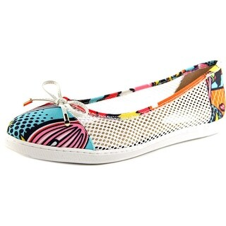 J. Renee Abeni Women Round Toe Canvas Multi Color Flats