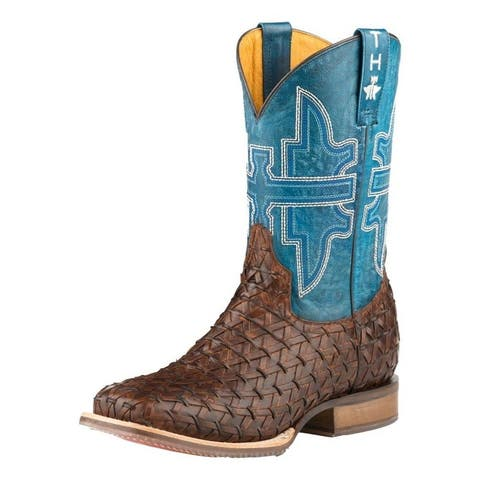 Tin Haul Western Boots Mens Grill Master Brown