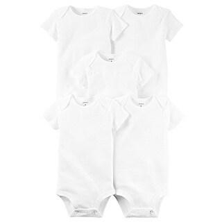 Carter's Unisex Baby 5-Pack Original Short Sleeve Bodysuits, White, Preemie - Multicolored