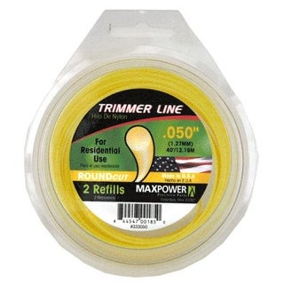 "MaxPower 333050 Residential Grade Trimmer Line, 0.050"" x 40', Yellow"