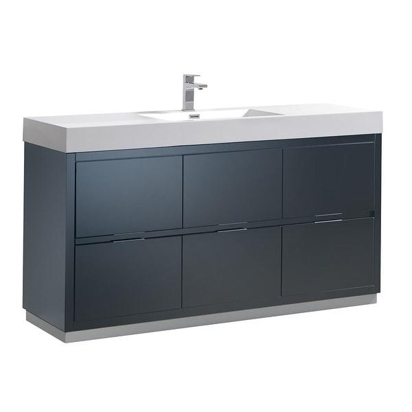 "Fresca FCB8460-I Senza 60"" Single Vanity Set with Wood Cabinet and Acrylic Vanity Top"