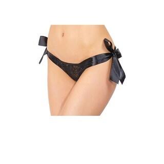 Lace Tie Side Crotchless Panty