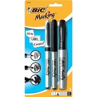 Bic Corporation Marking Permanent Marker - Assorted, Black