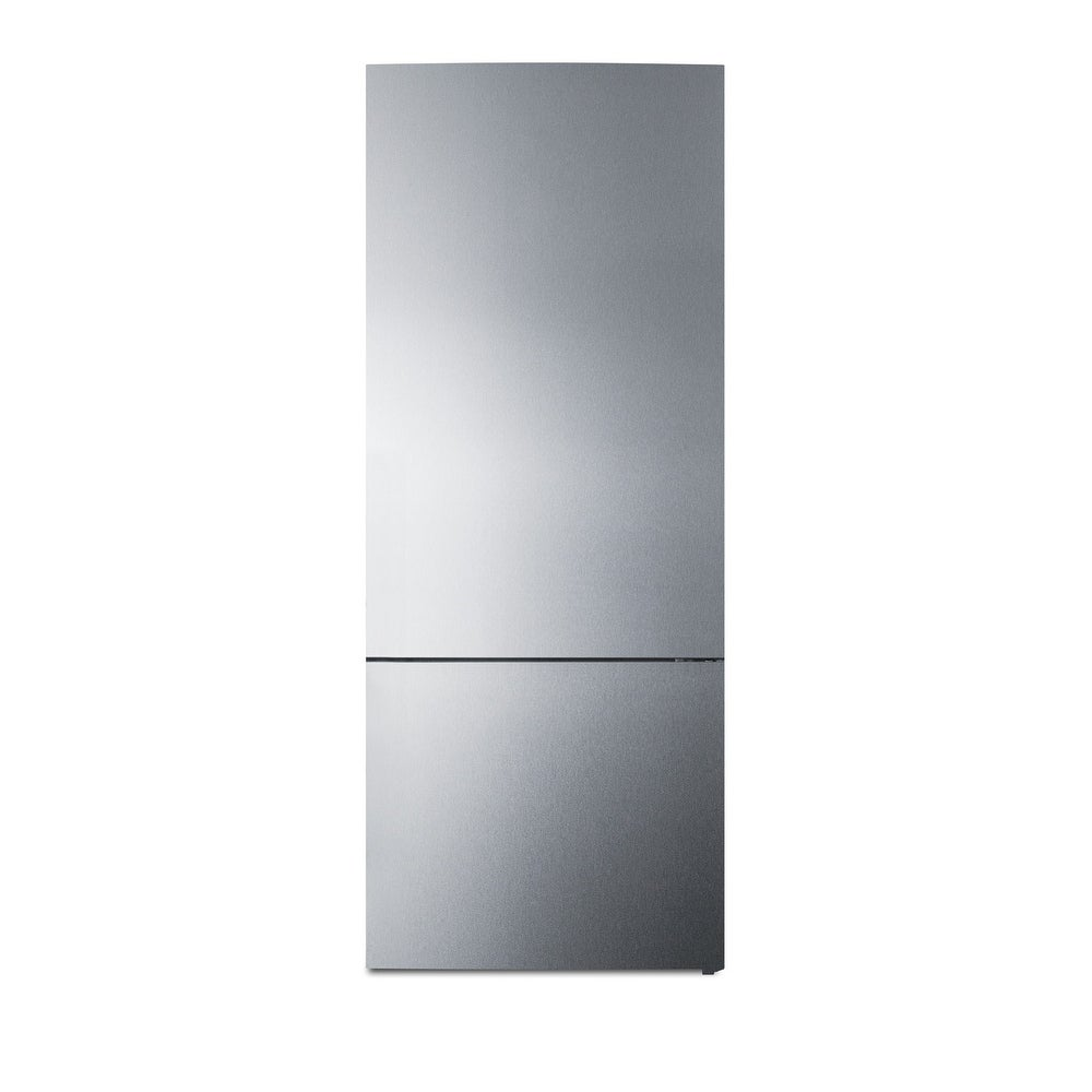"""Summit  FFBF279  28"""" Wide 14.8 Cu. Ft. Energy Star Rated Bottom Mount Refrigerator - Stainless Steel (Stainless Steel)"""