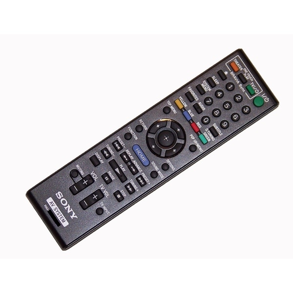 OEM Sony Remote Control Originally Supplied With: BDVF7, BDVN890W, BD-VN890W, BDVN890W/Z, BD-VN890W/Z, BDVT57