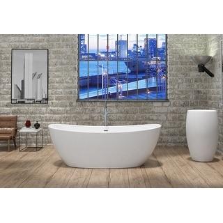 "Link to Manhattan 65"" Solid Surface Freestanding Bathtub Similar Items in Bathtubs"