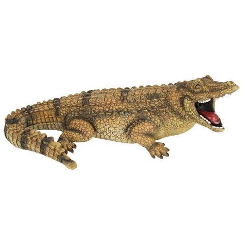Design Toscano Striker the Alligator Spitter Piped Statue