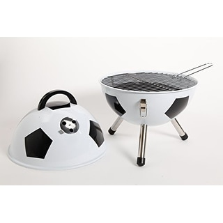 Gibson 107192.01 Home Soccer Ball Bbq Steel Grill, 12-Inch, White