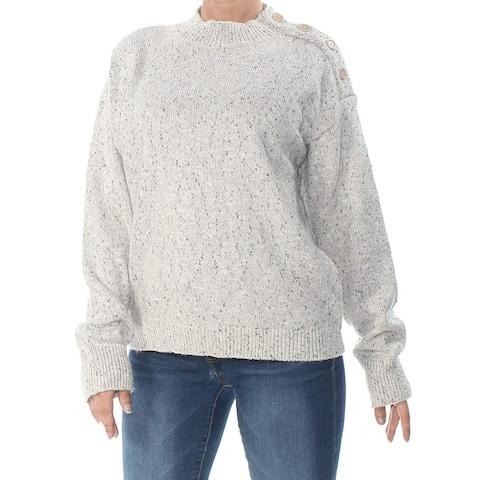 Sanctuary Women's Sweater Gray Size XL Turtleneck Mock Buttoned