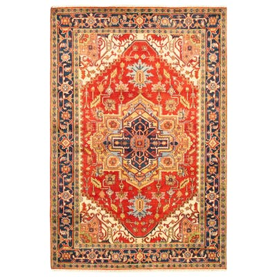 ECARPETGALLERY Hand-knotted Serapi Heritage Red Wool Rug - 6'0 x 9'0