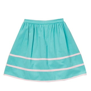 Little Girls Blue Pink Stripe Detailed Cotton Trendy Skirt 12M-6