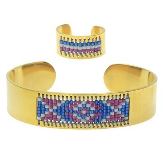 Beaded Centerline Bracelet and Ring Set - Monterey - Exclusive Beadaholique Jewelry Kit