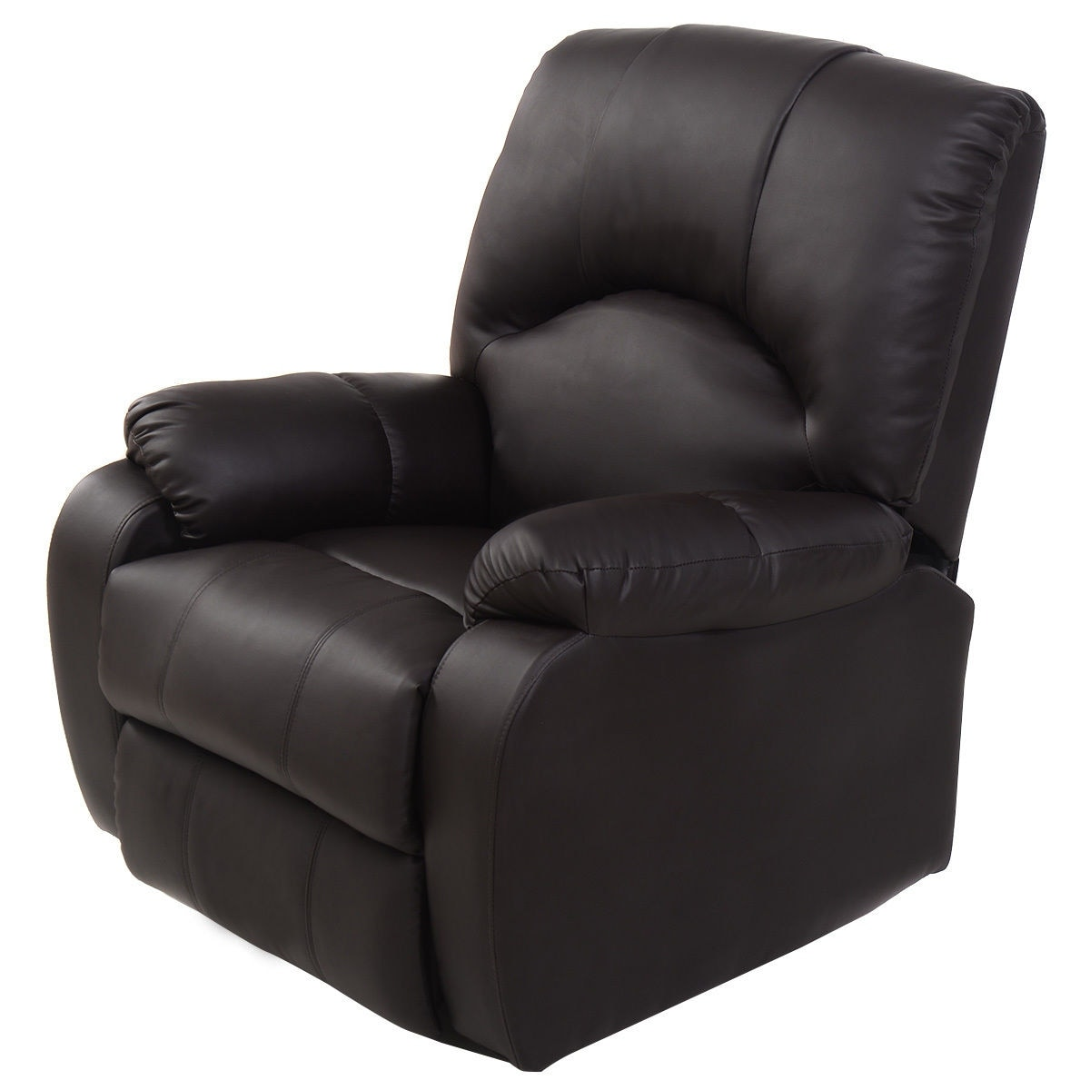 Costway Massage Recliner Sofa Chair Deluxe Ergonomic Lounge Heated w/Control Brown