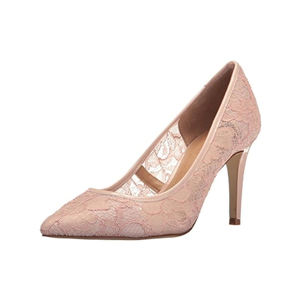 Tahari Womens Brice2 Dress Heels Lace Patent Trim