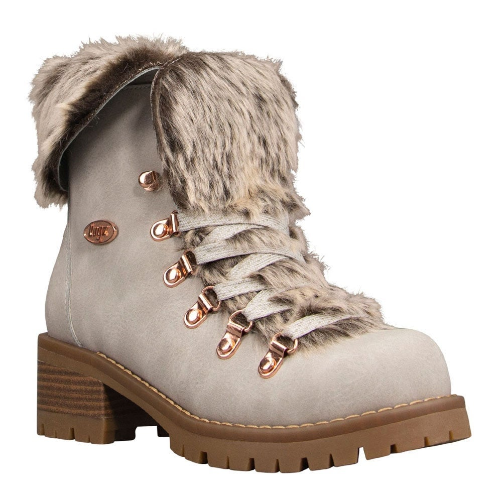 Lugz Womens Adore Fur Lace Up Casual