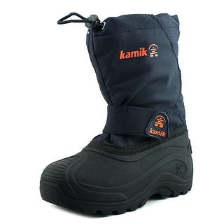 Kamik Snowbound Youth Round Toe Synthetic Blue Snow Boot