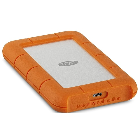 LaCie Rugged USB-C 4TB Portable External Hard Drive