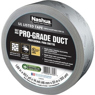 "Nashua 1207800 557-HVAC Duct Tape, Silver, 1.89"" x 60.1 Yards"