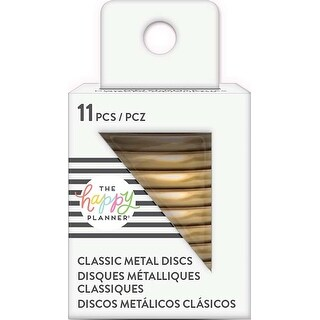 Gold - Happy Planner Medium Metal Expander Discs 11/Pkg