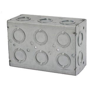 142mmx96mmx64mm 3 Gang Electrical Junction Outlet Box Enclosure Case Gray
