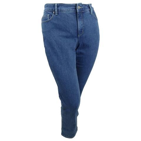 Charter Club Women's Plus Lexington Tummy-Control Straight-Leg Jeans