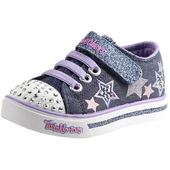 2421bb9d2847 Shop Skechers Twinkle Toes Sparkle Glitz Twinklerella Girls Light Up  Sneakers Denim/Multi 6 - Free Shipping Today - Overstock - 18279435