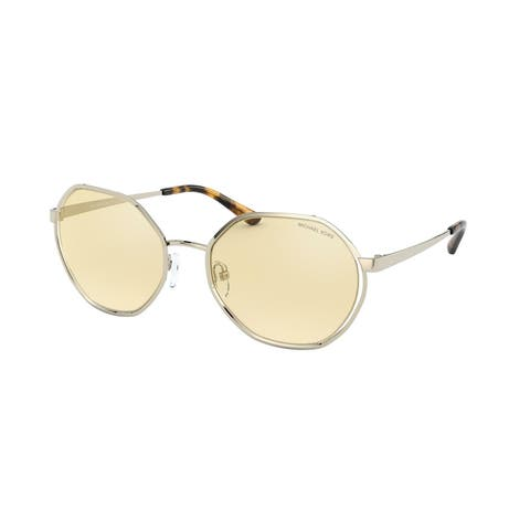 Michael Kors MK1072 1014V9 57 Light Gold Woman Irregular Sunglasses